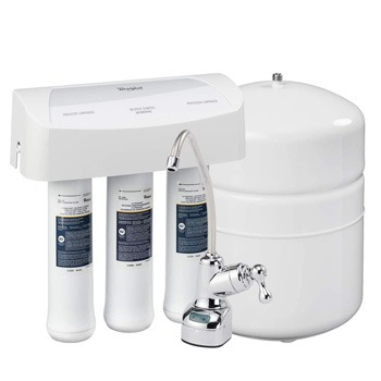 Whirlpool WHER25 Reverse Osmosis (RO) Filtration System With Chrome Faucet