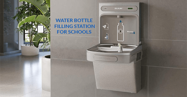 water bottle filling station for schools